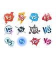 comic versus logos vs pop art retro game concept vector image vector image
