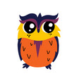 cute cartoon owl icon vector image