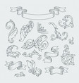 decorative elements in baroque style victorian vector image vector image