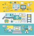Distance Learning and Education vector image vector image