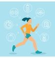 fitness infographics design elements vector image