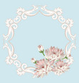 floral seamless frame vector image vector image