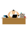 freelancer at work clutter and computer remote vector image vector image