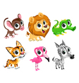 Funny african animals vector image vector image