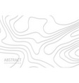 geometric cut paper white background topography vector image