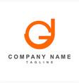gj gju initials company logo vector image