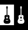 guitar in black and white vector image vector image
