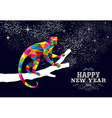 Happy chinese new year monkey 2016 triangle color vector image