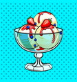 ice cream pop art vector image