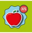icon fruit vegetable discount vector image