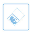 icon of worm container vector image