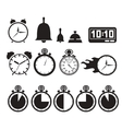 Icon set clocks vector image vector image