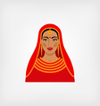 Indian woman in traditional clothes vector image vector image