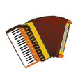 isolated accordion vector image