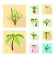isolated object nature and flora symbol set of vector image vector image