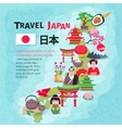 Japanese Culture Travel Map Background Poster vector image vector image