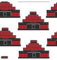 lenins mausoleum ussr building seamless pattern vector image