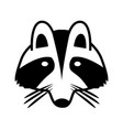 logo of a raccoon face isolated image vector image
