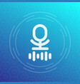 microphone speech recognition icon vector image