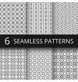 modern simple geometric seamless patterns vector image vector image