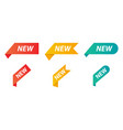new tag ribbons vector image