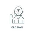 old man line icon linear concept outline vector image vector image