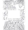 pattern frame with autumn leaves vector image