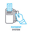 payment system concept outline icon linear sign vector image vector image