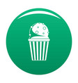 popcorn icon green vector image