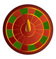 red green wheel fortune icon cartoon style vector image