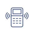 remote controller with signal waves icon in line vector image vector image