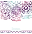 set banners with ethnic decorative ornament vector image