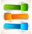 Set of colorful tags vector image vector image
