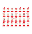 Set of Santa Claus emoticon isolated on white vector image