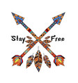 stay free with arrows vector image