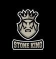 stone king logo vector image vector image
