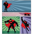 Superhero Banners 4 vector image vector image