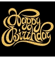template for greeting card happy birthday vector image