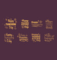 thanksgiving day typography vector image