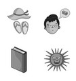 travel education and other monochrome icon in vector image vector image