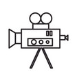 video cinema retro camera line icon sign vector image vector image