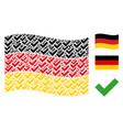 waving german flag mosaic of yes items vector image