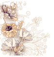 Wild flowers on a white vector image vector image
