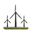wind power electricity generator vector image vector image