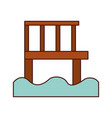 wooden pier isolated icon vector image