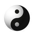 yin yang symbol vector image vector image