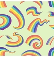 Rainbows pattern in different shape vector image