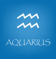 aquarius zodiac sign icon simple vector image