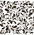 beautiful seamless curls background vector image