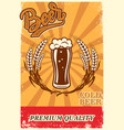 beer poster in retro style objects on grunge vector image